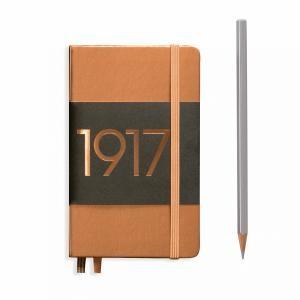 Leuchtturm A6 Pocket Copper Ruled Hardcover Notebook Metallic Edition
