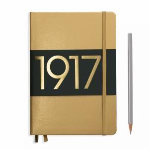 Leuchtturm A5 Medium Gold Plain Hardcover Notebook Metallic Edition
