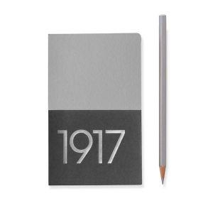 Leuchtturm A6 jottbook metallic edition pocket silver plain hardcover notebook