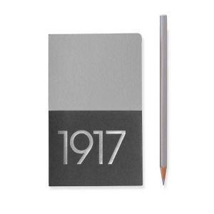 Leuchtturm A6 jottbook metallic edition pocket silver plain hardcover notebook