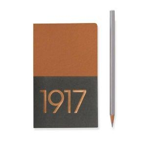Leuchtturm A6 jottbook metallic edition pocket copper plain hardcover notebook