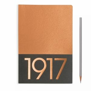 Leuchtturm A5 Jottbook Medium Copper Ruled 2pack Metallic Edition Softcover