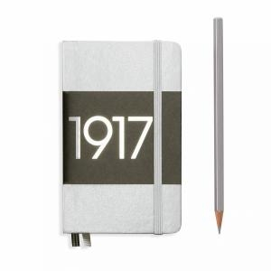Leuchtturm A6 Pocket Silver Dotted Hardcover Notebook Metallic Edition