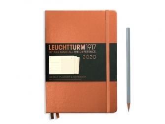 Leuchtturm Weekly Planner + Notebook 2020 A5 Medium Copper Hardcover