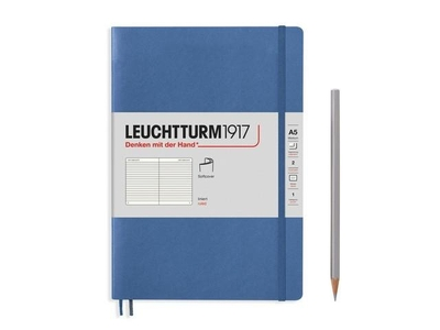 Leuchtturm A5 medium muted colours denim ruled softcover notebook