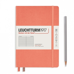 Leuchtturm A5 medium muted colours bellini ruled hardcover notebook