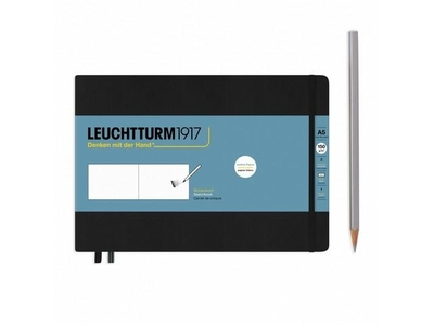Leuchtturm A5 Landscape Medium Sketch Book Black Hardcover