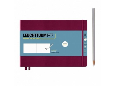 Leuchtturm A5 Landscape Sketch Book Medium Port Red Hardcover