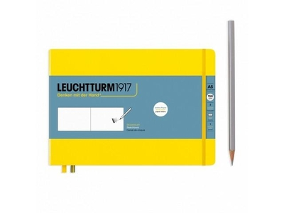 Leuchtturm A5 Landscape Sketch Book Medium Lemon Hardcover