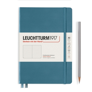 Leuchtturm Rising Colours A5 Medium Hardcover Stone Blue Dotted Notebook