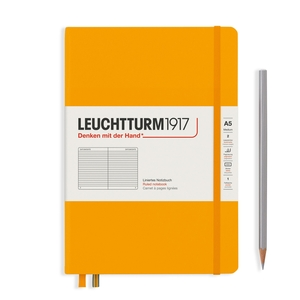 Leuchtturm Rising Colours A5 Medium Hardcover Rising Sun Ruled Notebook