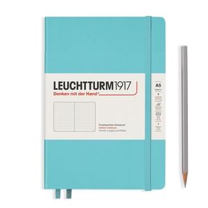 Leuchtturm Rising Colours A5 Medium Hardcover Aquamarine Dotted Notebook