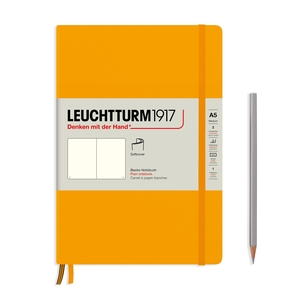 Leuchtturm Rising Colours A5 Medium Softcover Rising Sun Plain Notebook