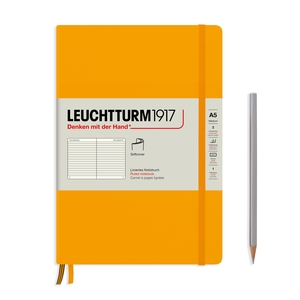 Leuchtturm Rising Colours A5 Medium Softcover Rising Sun Ruled Notebook