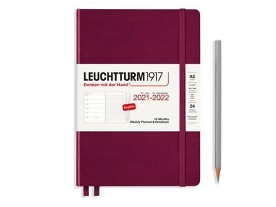 Leuchtturm Weekly Planner & Notebook A5 Medium Port Red 18 maanden 2021- 2022