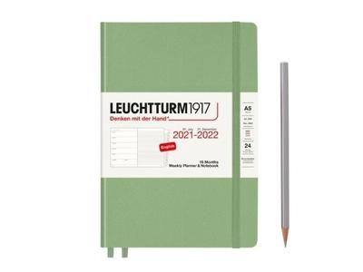 Leuchtturm Weekly Planner & Notebook A5 Medium Sage 18 maanden 2021 - 2022