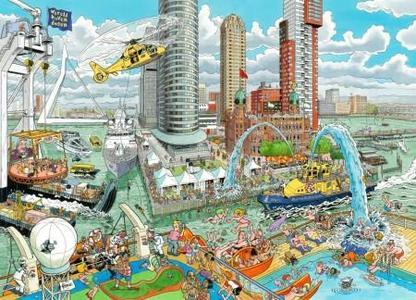 Puzzel Fleroux - Rotterdam 1000 stukjes