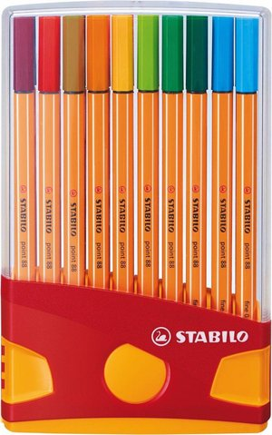 Stabilo Point 88 Fineliner - Colorparade - 20 kleuren