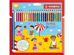 Stabilo Trio Dik 24 kleurpotloden