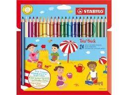 Stabilo Trio - Etui met 24 kleurpotloden