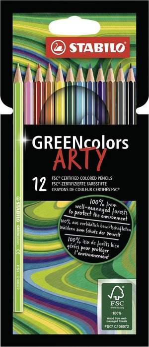 Stabilo GREENcolors ARTY - etui met 12 kleurpotloden