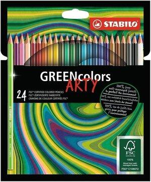 Stabilo GREENcolors ARTY - Etui met 24 kleuren