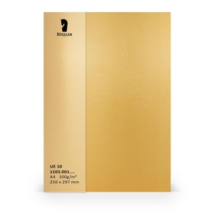 Rossler papier A4 100 gram goud 10 vel