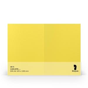Rossler papier dubbele kaart A6 220 gram Zonnegeel
