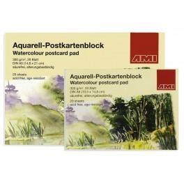 Ami Aquarel Postkaartenblok A5