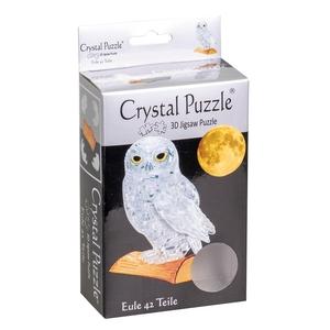 Crystal Puzzle 3D Uil transparant 42 stukjes