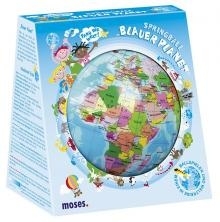 Bal Wereldbol - Blauwe Planeet (15cm)