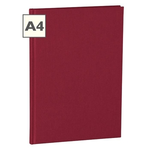 Semikolon Classic A4 Hardcover Burgundy Ruled Notebook