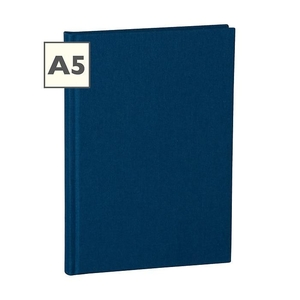 Semikolon Classic A5 Hardcover Navy Ruled Notebook