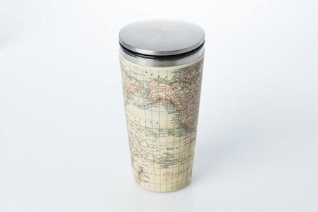 Antique Map Bamboo Slide cup