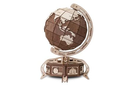 Houten Wereldbol/Globe Bruin 3D puzzel
