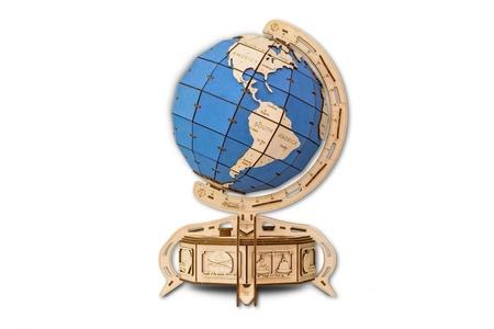 Wereldbol /Globe 3D Puzzel Blauw