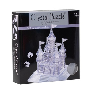 Crystal Puzzle Kasteel transparant 105 stukjes