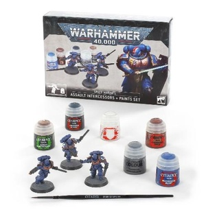 Space Marines Assault Intercessors + Paints Set