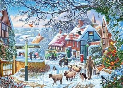 Puzzel A Winter Stroll 1000 stukjes