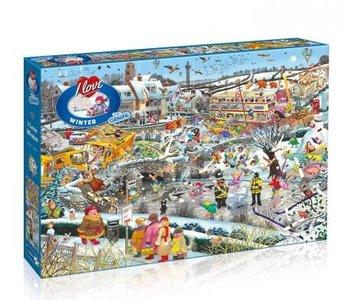 Puzzel I Love Winter 1000 stukjes