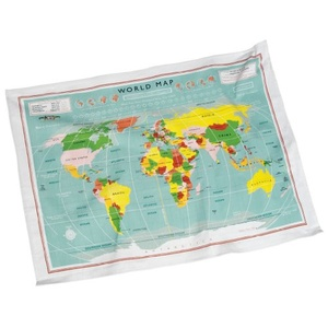 Theedoek Vintage World Map