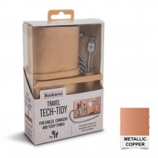 Bookaroo Travel Tech Tidy - Metallic Copper