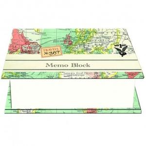Vintage Maps - Vierkant Memoblok