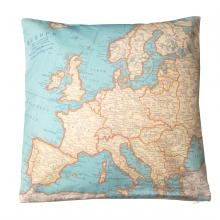 Kussen Europa Vintage World Map