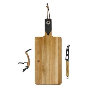 Gentleman's Hardware Kaasplank kaasmes en kurkentrekker