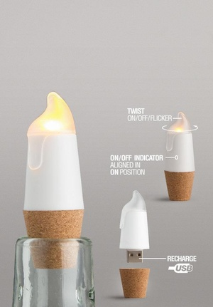 Candle Bottelight Recharchable-USB