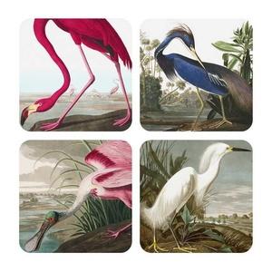 Set onderzetters met afbeeldingen van vogels
