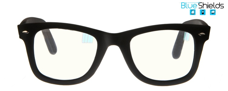Icon Eyewear TFB300 +0.00 City BlueShields bril zonder sterkte - blauw licht filter lens - Mat zwart
