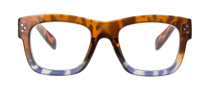 Icon Eyewear QCE301 Rumble Leesbril +3.00 - Glanzend demi, blauw