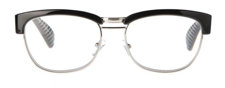 Icon Eyewear MCE723 Sean, Silverline Leesbril +2.50 - Glanzend zwart, metalen onderzijde